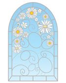 Daisy window — Stock Vector