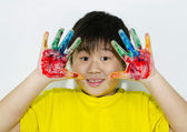 Hand painting — Stock Photo