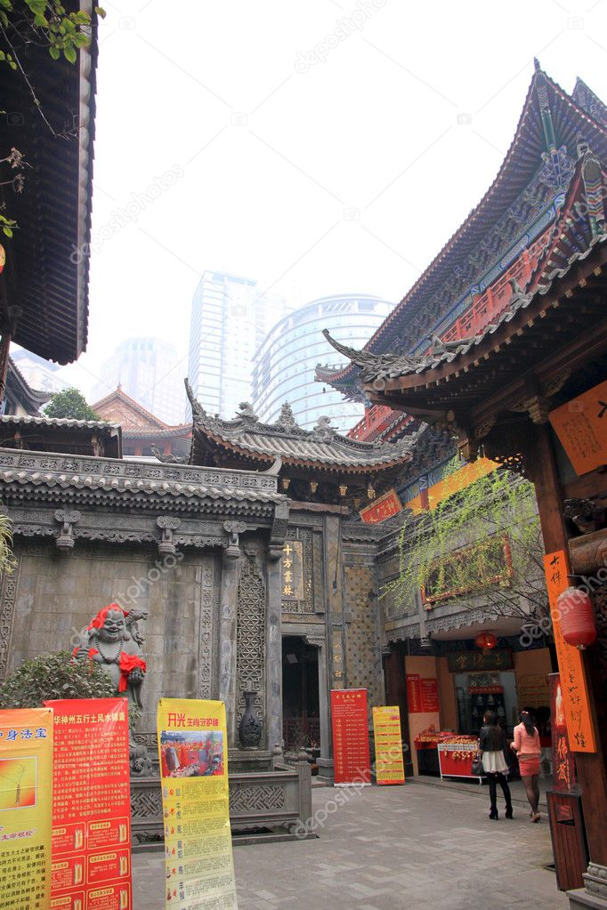 A Chinese Buddhist Temple in Chongqing — Stock Photo #10915576