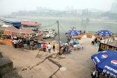 Yangtzefloden strandlinjen — Stockfoto