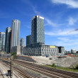 Toronto Skyline and Railway — Stock Photo