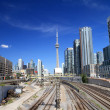 Toronto Skyline and Railway — Photo