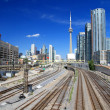 Stock Photo: Toronto Skyline and Railway