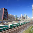 Stock Photo: Downtown Toronto Railway and Train