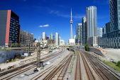 Toronto Skyline and Railway — Stock Photo