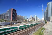 Downtown Toronto Railway and Train — Stock Photo