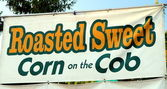 Roasted Corn Sign — Stock Photo