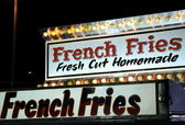 French Fries Sign — Stock Photo