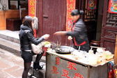 Chinese Street Food Purchase — Stock Photo