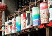 Tecidos coloridos — Foto Stock