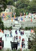 Turyści na wyspie lantau — Zdjęcie stockowe