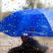 Man With Blue Umbrella — Stock Photo #12391393