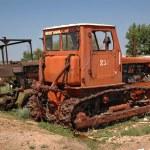 Old caterpillar tractor — Stock Photo