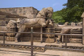 Stone horse chariot of the Sun Temple — Foto Stock
