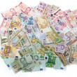 Stock Photo: Currencies, worldwide money, banknotes, exchange rate