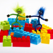 Stock Photo: Lego plastic toy blocks