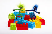 Lego plastic toy blocks — Stock Photo