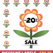 Stock Vector: Set of discount labels