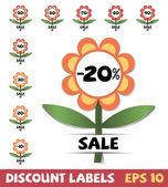 Set of discount labels — Stock Vector