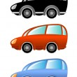 Stock Vector: Set of cartoon cars