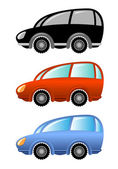 Set of cartoon cars — Stock Vector