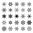 Set of decorative snowflakes — Stock Vector