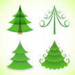 ストックベクタ: Christmas trees collection