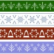 Stock Vector: Collection of seamless Christmas Borders