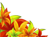 Autumn/ floral background — Stock Vector
