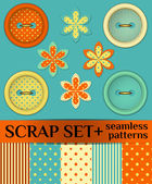 Buttons: scrap set — Stock Vector