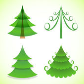 Christmas trees collection — Stockvector