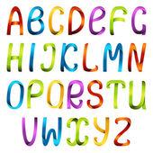 Barevná stuha abeceda sada — Stock vektor