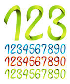 Color sets of ribbon numbers — Stockvektor