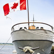 Canadian boat at harbor — Stock Photo #11826324
