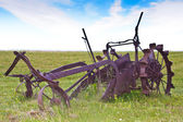Antique Farming Plough — 图库照片