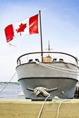 Canadian boat at harbor — Stock Photo