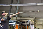 Glass-Blower at Work — Stock Photo