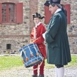 Drumming at Louisbourg — Stock Photo