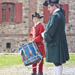 Stock Photo: Drumming at Louisbourg