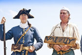 17th Century Criminal and Guard — Stock Photo