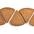 Bread pieces on white background - Stock Photo