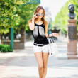 Beautiful girl in a sunglasses - Full length portrait - Stock fotografie