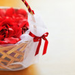 Royalty-Free Stock Photo: Basket with rose petals