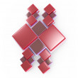 Abstract red pattern 3d model — Stockfoto #11407024