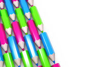 Set of colorful pencils isolated 3d model — Stock Photo