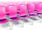 Auditorium with pink chairs 3d model — 图库照片