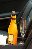 シャンパンとグラス — ストック写真