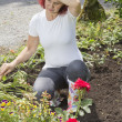 Exhausted woman gardener — Stock Photo