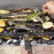 Fresh Mediterranefishes on traditional BBQ — Stock Photo #11618914