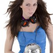 Stock Photo: Young woman with headphone